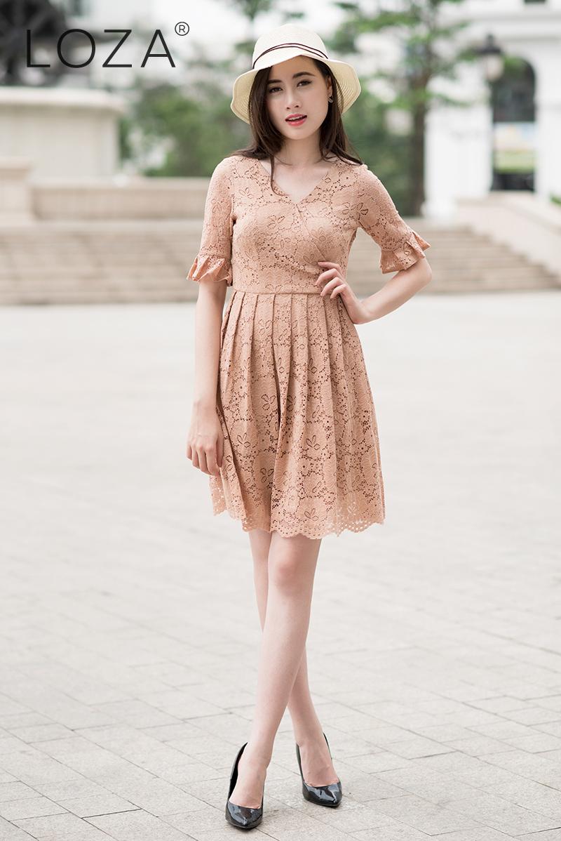 Đầm xòe thanh lịch nhẹ nhàng