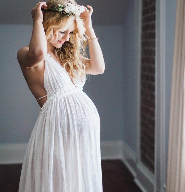 váy cưới cho cô dâu mang bầu