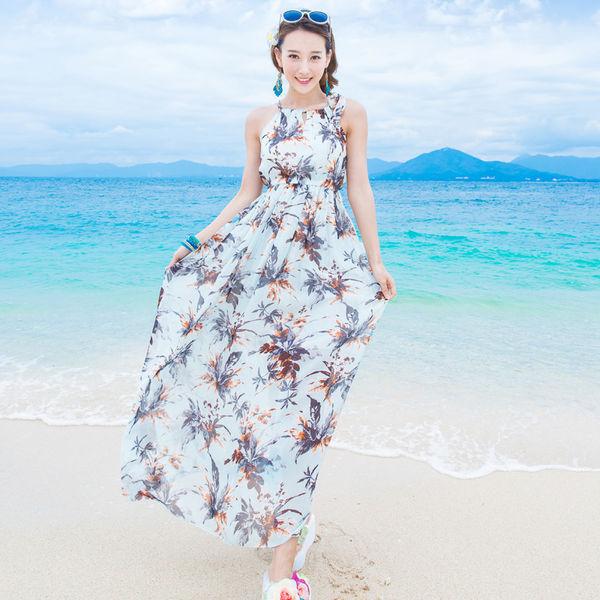 Đầm maxi - mẫu váy đi biển hot