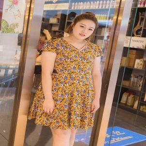 Về chất liệu váy cho người béo