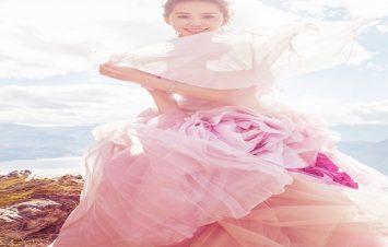xu hướng váy cưới màu hồng