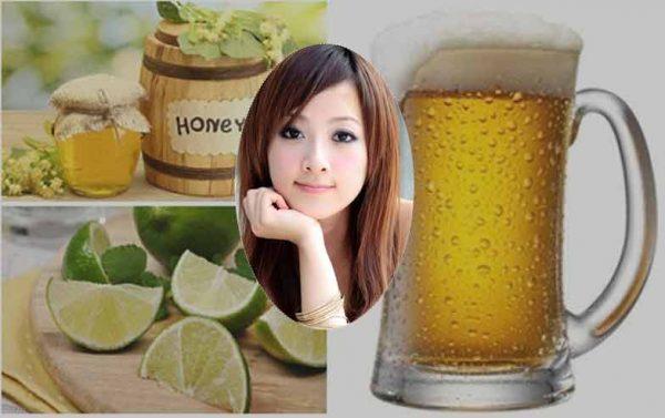 Rửa mặt bằng bia hàng ngày với nước cốt chanh