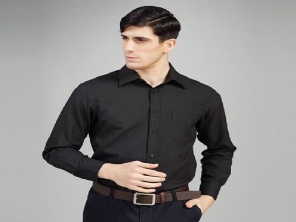 Áo sơ mi nam đẹp  màu đen