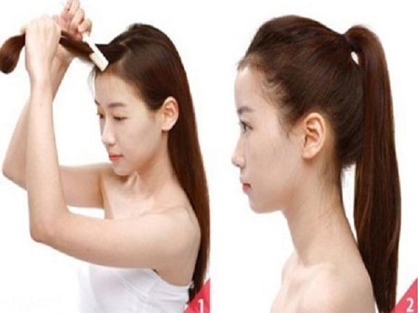 Cách buộc tóc cao - cách buộc tóc đẹp