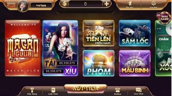 Hướng dẫn cách tải game bài sâm lốc Macau club