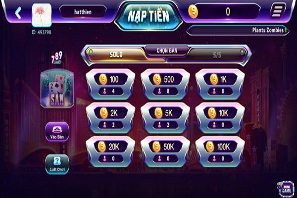 Chơi game bài sâm lốc đơn giản, dễ dàng tại 789club