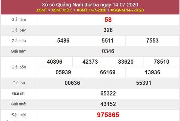 Dự đoán XSQNM 21/7/2020 chốt KQXS Quảng Nam thứ 3