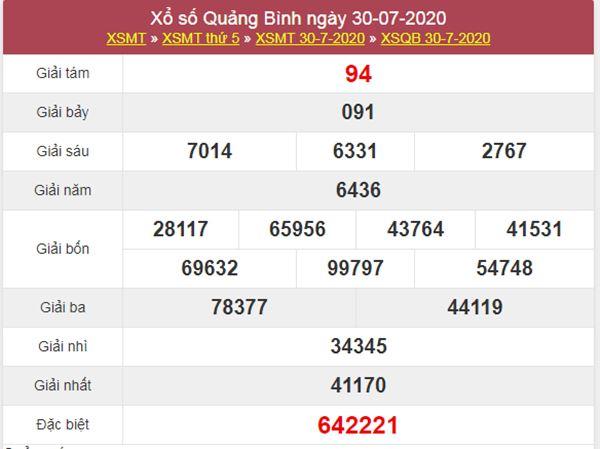 Dự đoán XSQB 6/8/2020 chốt lô VIP Quảng Bình thứ 5