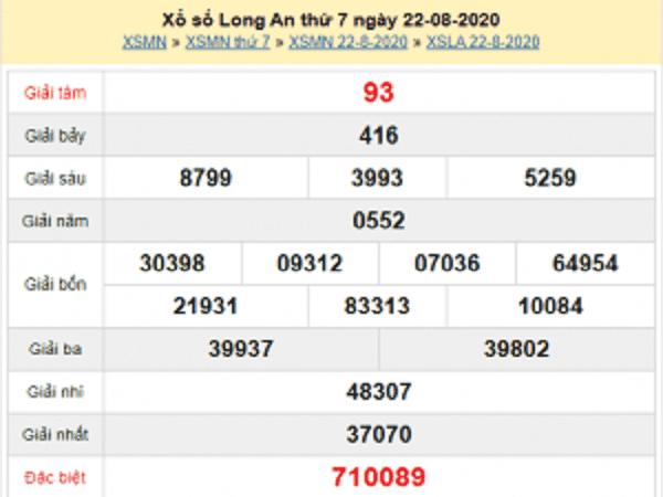 Tổng hợp soi cầu KQXSLA- xổ số long an thứ 7 ngày 29/08/2020