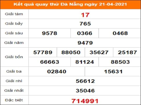 Quay thử Đà Nẵng ngày 21/4/2021 thứ 4
