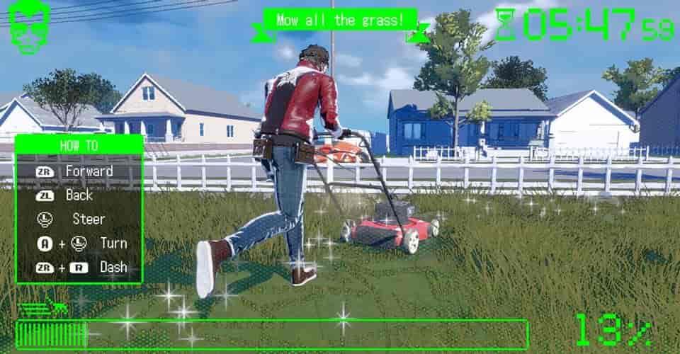 Game No More Heroes 3 bao gồm cắt cỏ, dọn nhà vệ sinh